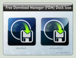 Free Download Manager (FDM) Dock Icon by LustaufMeer