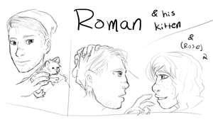 (DinK) Roman sketch by LucidFoxe