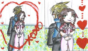 CloudxAerith Hearts by ChibiKyuu