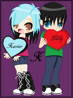 Request: Lilly and Xavier by luna-yamaneko