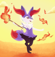 Braixen - shiny! by tortaviso