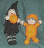 Witch+Pumpkin Boy Amigurumi by ErikDShipley