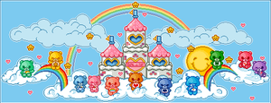Care Bear Pixel by MangledButterfly