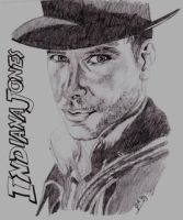Harrison Ford as Indiana Jones by JazIllustrations