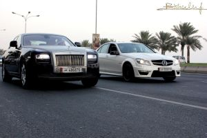 Rolls Royce and C63 by ramyk