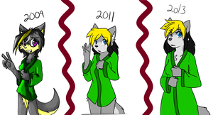 Then and Now and Again by MewgletheWolf