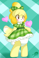 FR Chibi Comm: Isabelle 02 by AD-SD-ChibiGirl