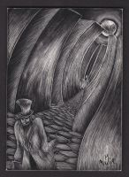 Jack the Ripper Scratchboard by Canookian