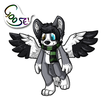 Goose - SHOUT! chibi badge by Rattus-Shannica
