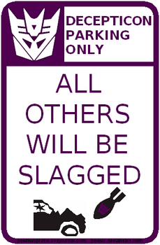 Decepticon Parking Sign by Peleliu