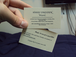 Harry Dresden business cards by HaroldPotter