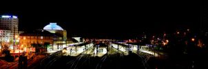 Mannheim by Night:Main Station by sevyd