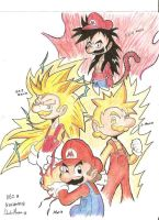 Super Saiyan Mario by MasterDM90