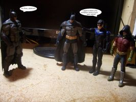 Origins Batman meets the Bat-family by Anicomicgeek
