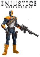 Injustice Deathstroke 4 inch figure by BLACKPLAGUE1348