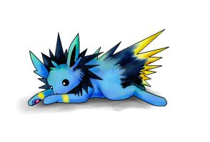 Shinx coloured Jolteon by StarBoundDragon