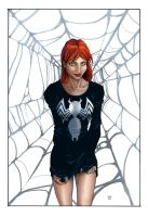 Mary Jane Watson colored by cheshirecat313