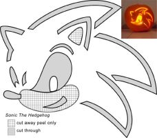 Sonic Jack-O-Lantern stencil by Rally-the-Cheetah