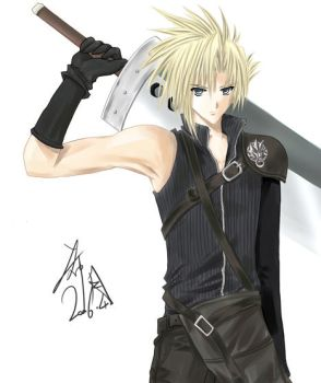 FFVII AC-Cloud Strife by hizuki24