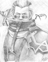 Auron Sketch by friedChicken365