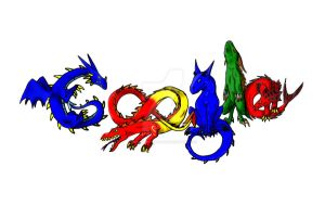 google Logo- Dragons colored by maelthra-chath