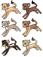 Lion Adoptables 2 Closed by WarriorAdopts