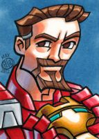 Tony Stark Sketch Card by Chad73