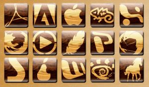wooden dock icons by hannes-hazelnut
