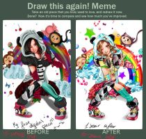 Draw this again meme by FionaCanajART