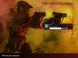 Logon Windows XP - HaloStyle 1.0 EN version by Lucifer4671