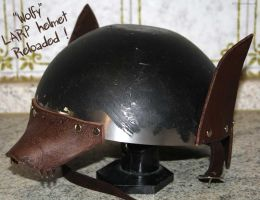 Wolfy LARP Helmet 2 by Meow-chi