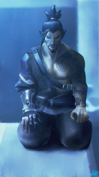 Hanzo - See that which is unseen (Gabe commission) by FernRain