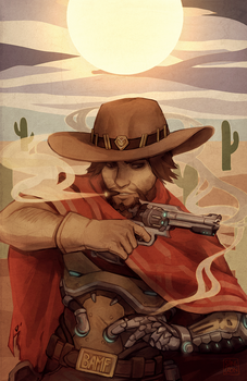 overwatch: midday man by Sangcoon