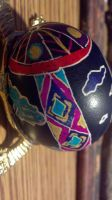 Nature Pysanka Side View by QueenzSerenity3