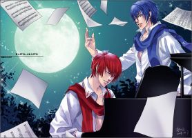 Kaito_Singing in the moonlight by smallw