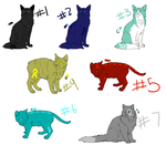 Free Cancer awareness cat adoptables {Batch 2} by Maplefang
