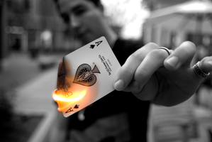 Burning Cards by SeanJPhoto