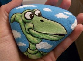 Pterri painted on a rock (Pee-wee's Playhouse) by TinyAna