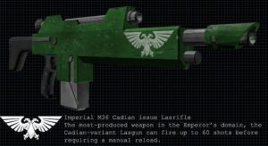 Cadian Pattern Lasgun by Dreganius
