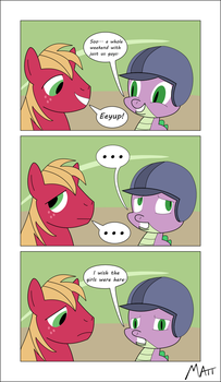 Spike and Big Mac MLP Comic by mercury-man