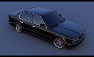 BMW e34 at sunset daytime. by Alpha1dash1