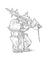 Ork Soldier lineart by RomeoEscape