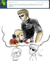 Ask Wesker 9 by MintMongoose