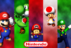 Wallpaper of Nintendo by Kezama