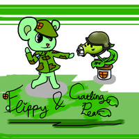 Flippy And Gatling Pea by neko-kumicho-chan