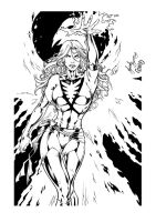 Phoenix by Mariah-Benes inked by gz12wk