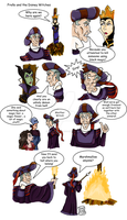 Frollo and the Witches - in color by Pelycosaur24