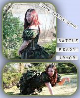 Camo Bustle Gown by crookedpin