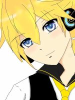 Kagamine len  Blue moon by kaworuloverei
