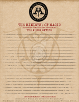 Auror Office Ministry of Magic Stationery by Niongi